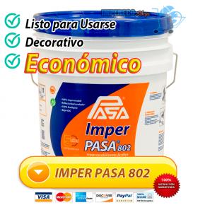 Impermeabilizante acrilico IMPER PASA 802 listo para usarse